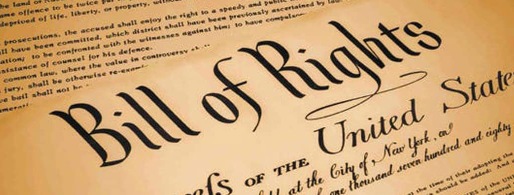Photo of the US Bill of Rights